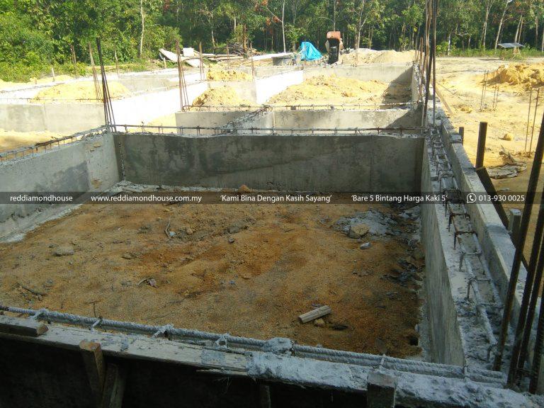 Bina Rumah Atas Sendiri Ground Beam 06
