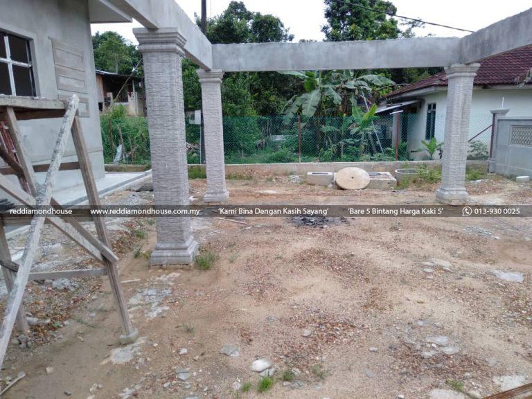 Bina Rumah Atas Sendiri Struktur Tiang 01