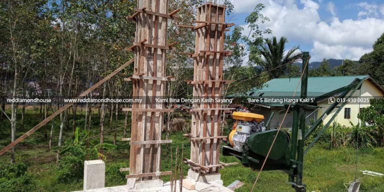 Bina Rumah Atas Sendiri Struktur Tiang 03