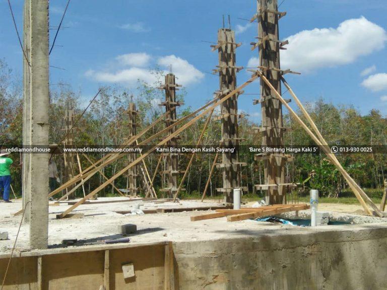 Bina Rumah Atas Sendiri Struktur Tiang 04