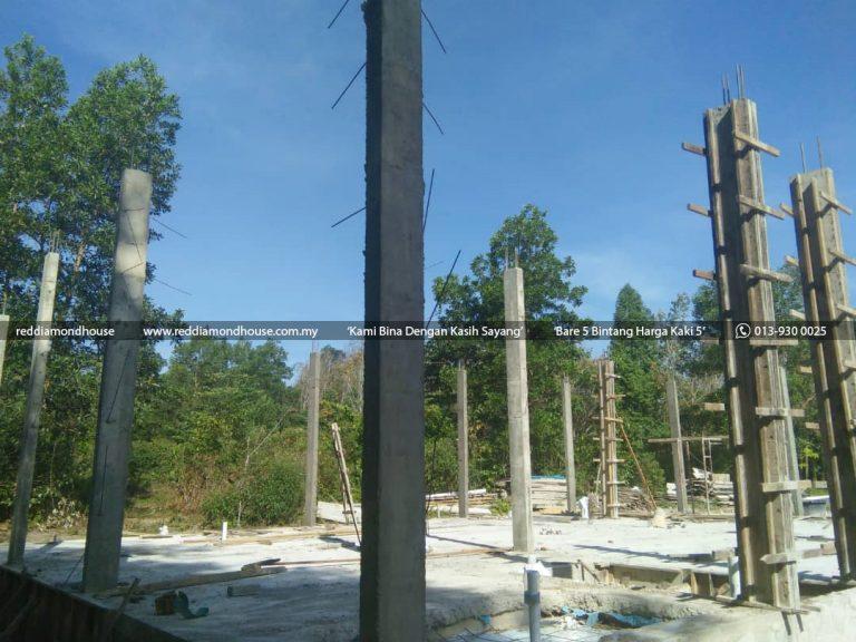 Bina Rumah Atas Sendiri Struktur Tiang 05