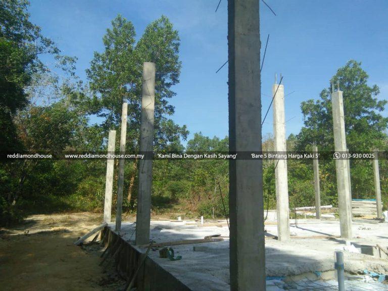 Bina Rumah Atas Sendiri Struktur Tiang 06