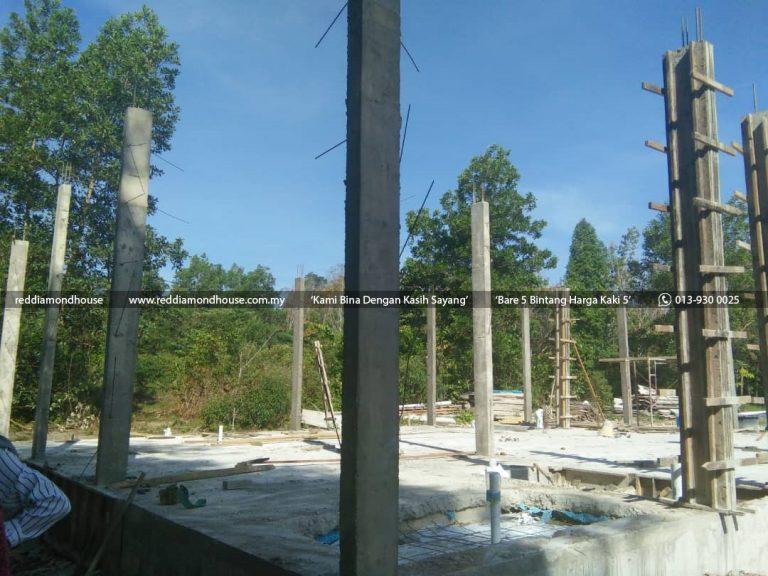 Bina Rumah Atas Sendiri Struktur Tiang 07
