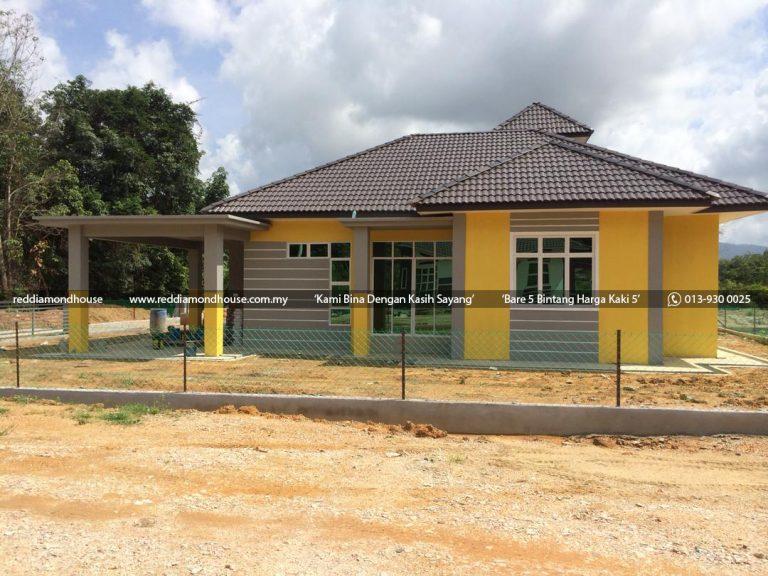 Bina Rumah Atas Tanah Sendiri Labok Machang 06