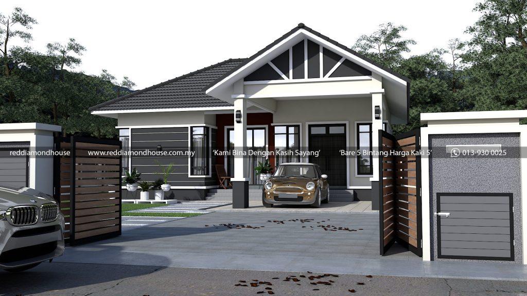 Bina Rumah Atas Tanah Sendiri Rekaan kediaman AZ009022019