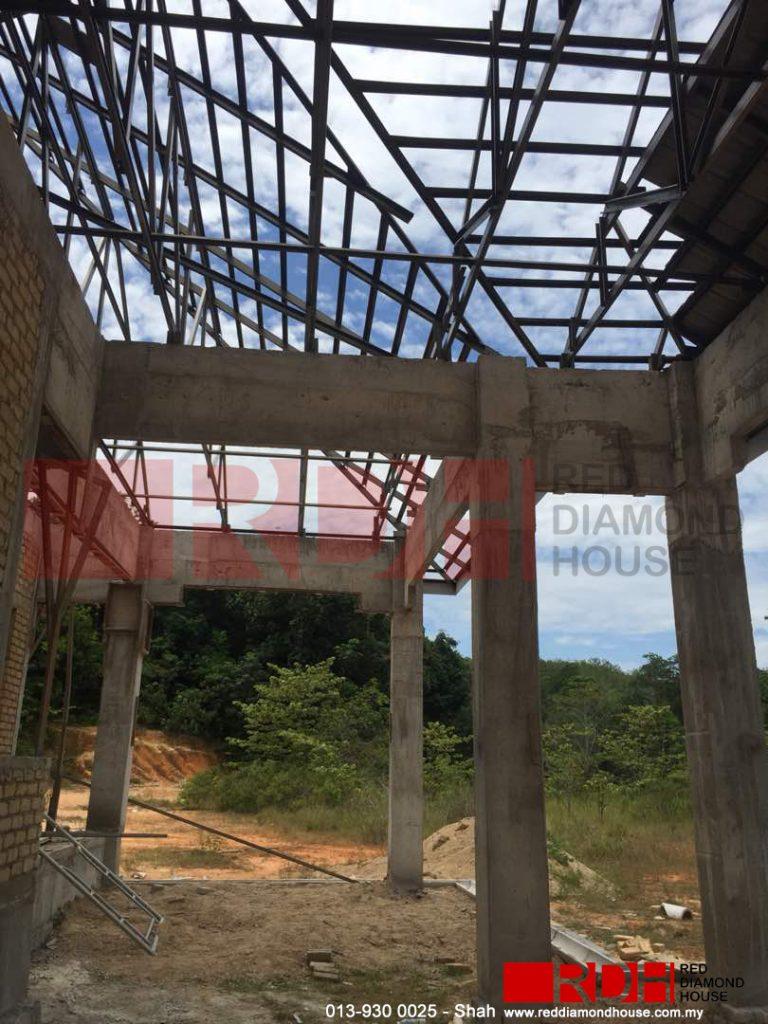 Bina Rumah Atas Sendiri bumbung 04