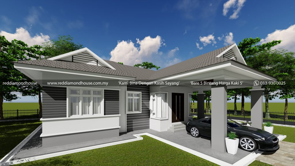 Bina Rumah Atas Tanah Sendiri AZ001012019 3D02