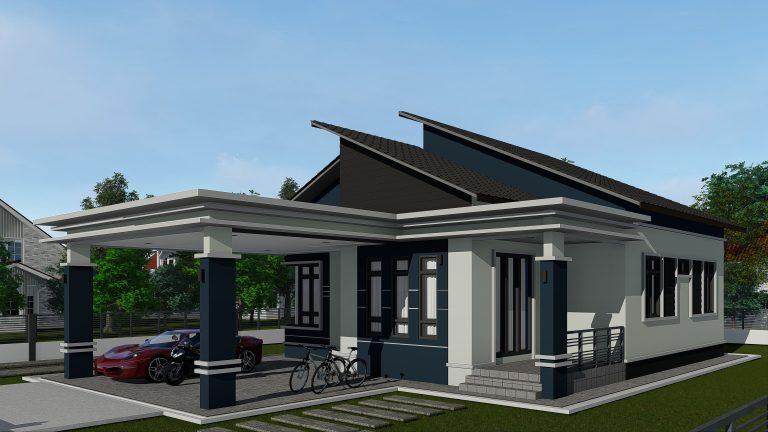 Bina Rumah Atas Tanah Sendiri AZ004012019 3D01