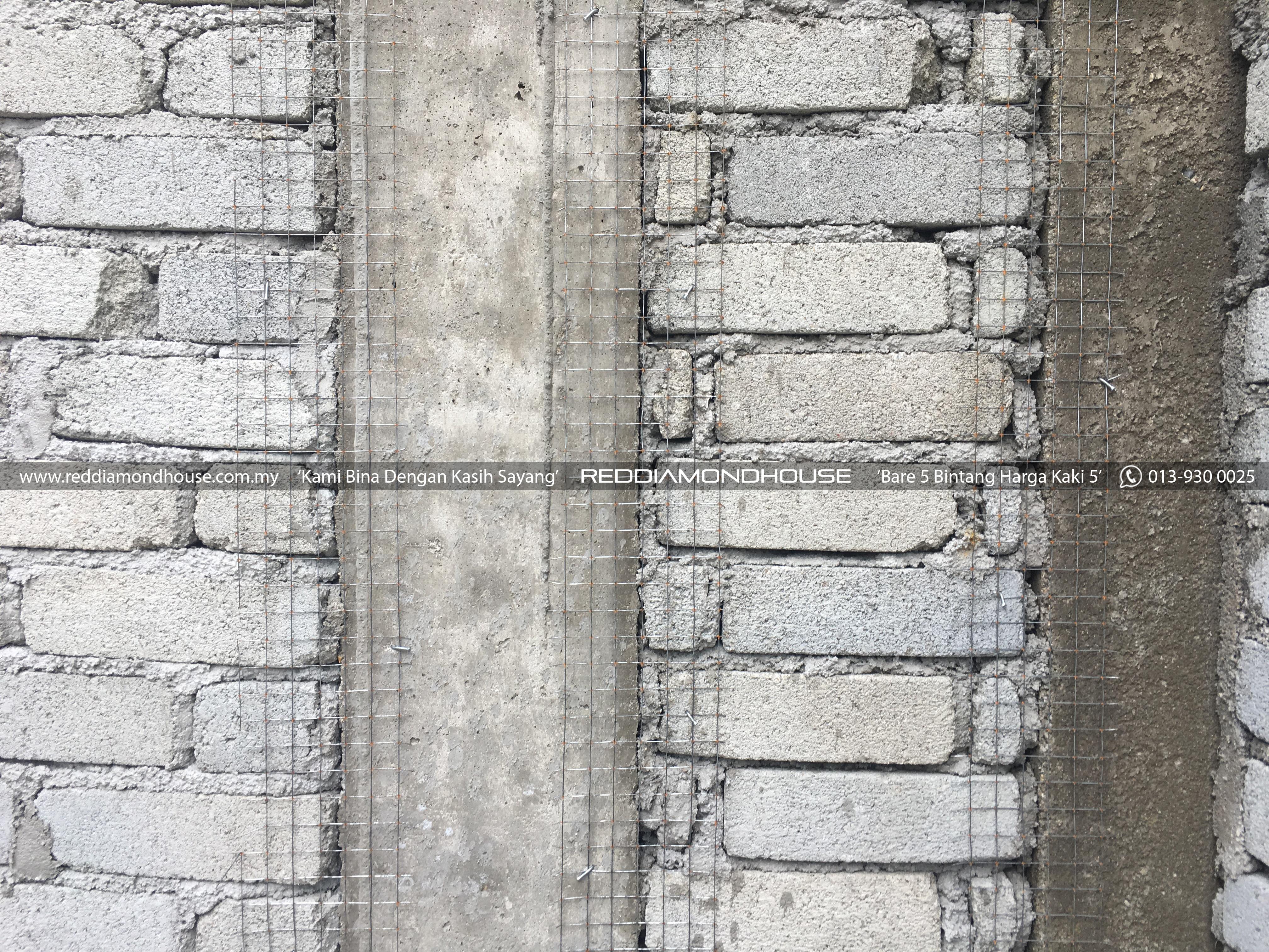 Bina Rumah Atas Sendiri Dinding 09