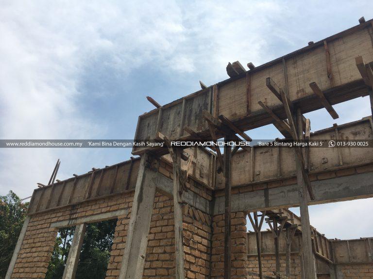 Bina Rumah Atas Tanah Sendiri Roof Beam 05