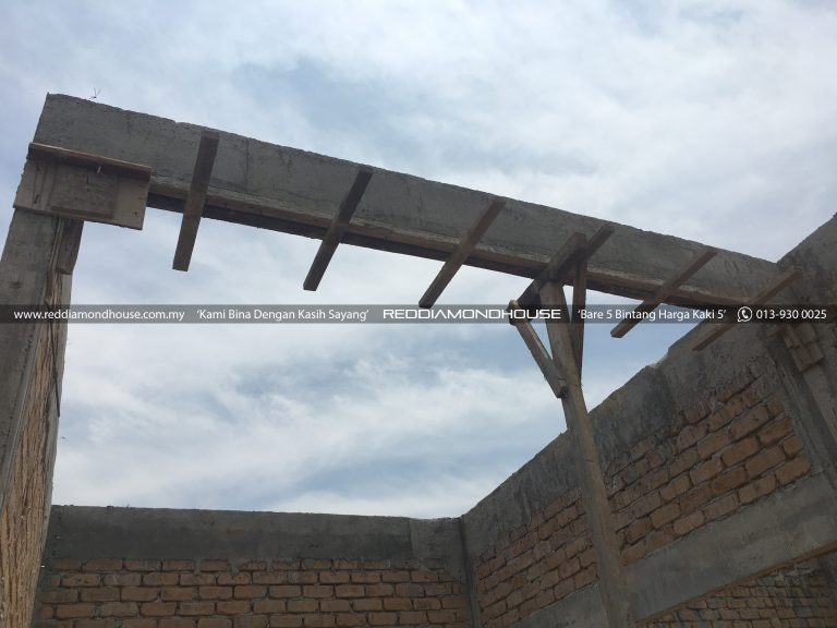 Bina Rumah Atas Tanah Sendiri Roof Beam 16