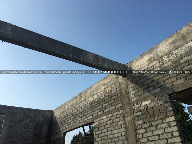 Bina Rumah Atas Tanah Sendiri Roof Beam 24