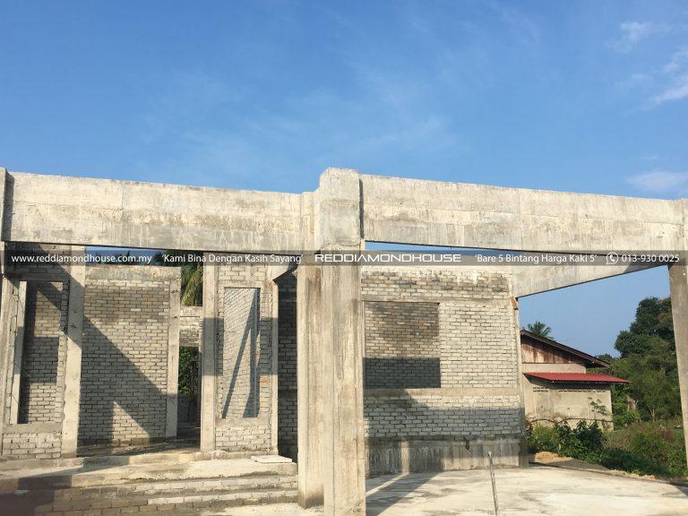 Bina Rumah Atas Tanah Sendiri Roof Beam 25