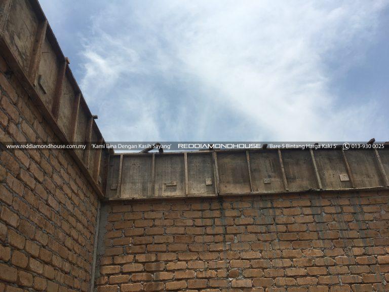 Bina Rumah Atas Tanah Sendiri Roof Beam 02