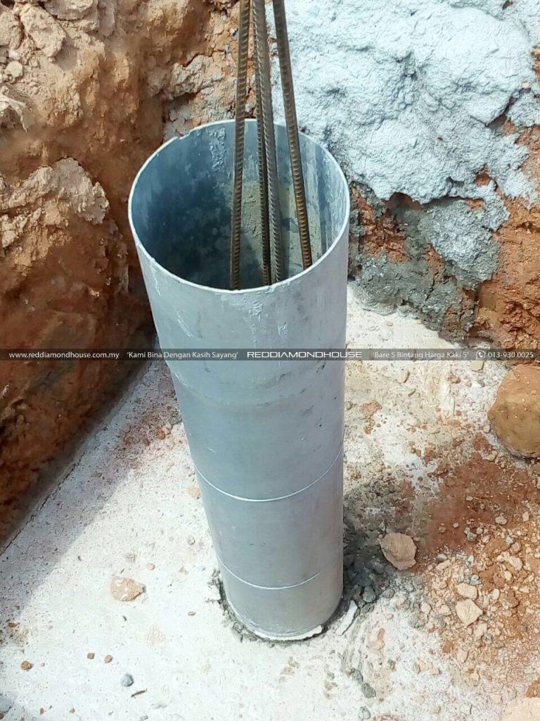 Bina Rumah Atas Sendiri Column Stump 12