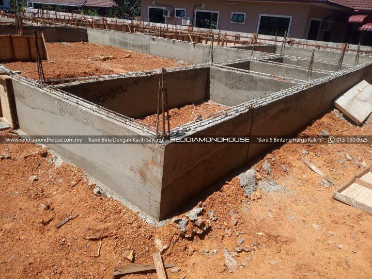 Bina Rumah Atas Sendiri Ground Beam 12