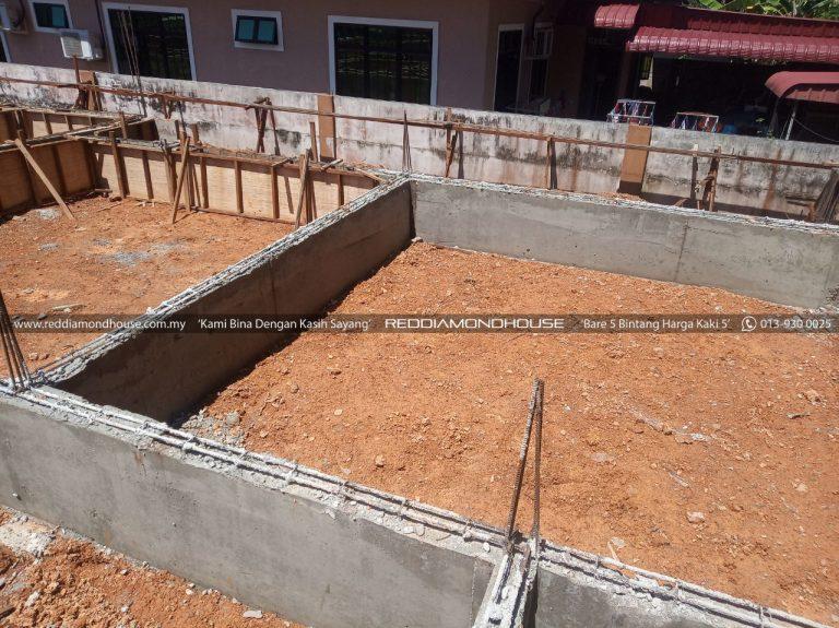 Bina Rumah Atas Sendiri Ground Beam 19