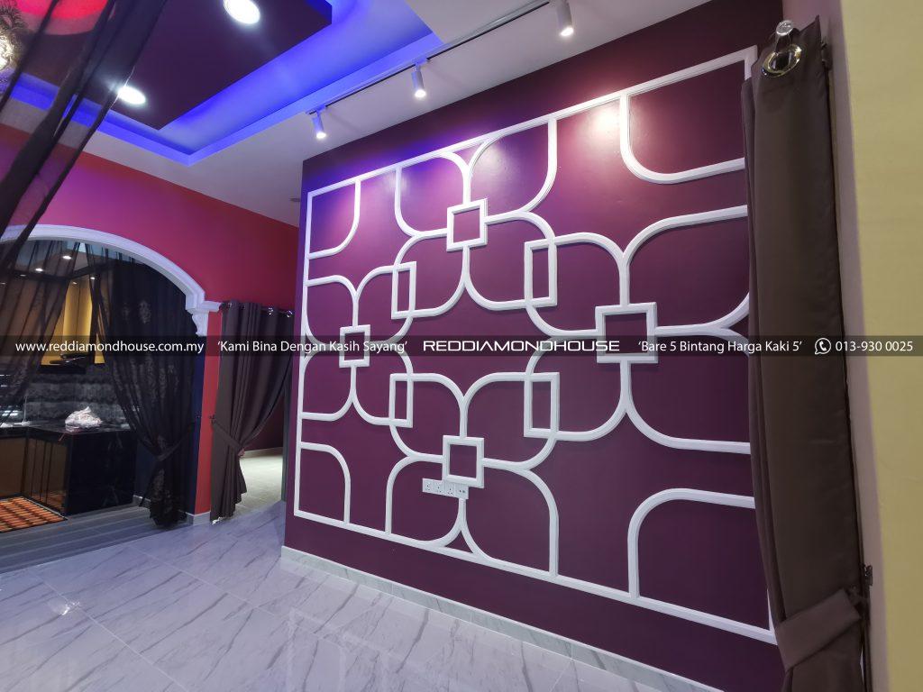 Bina Rumah Atas Tanah Sendiri Panji Feature Wall 02