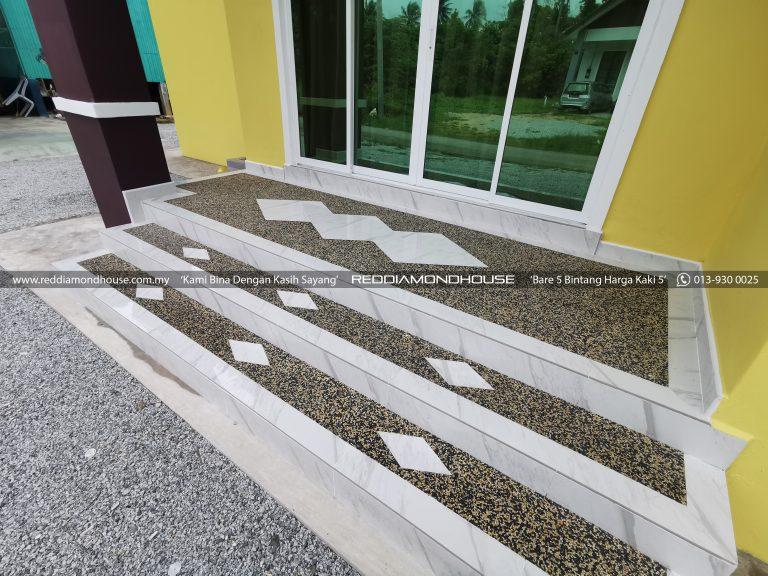 Bina Rumah Atas Tanah Sendiri Panji Pebble wash 02