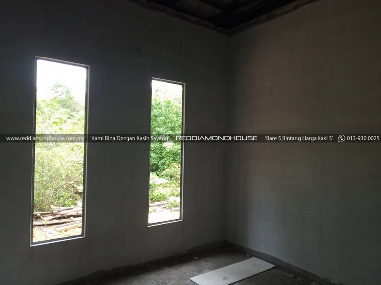 Bina Rumah Atas Tanah Sendiri Plaster Dinding 01